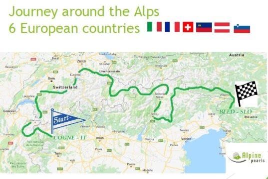 Il percorso di Alpine Pearls E-Tour