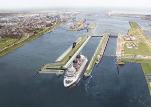 Grandi navi mercantili ad Amsterdam