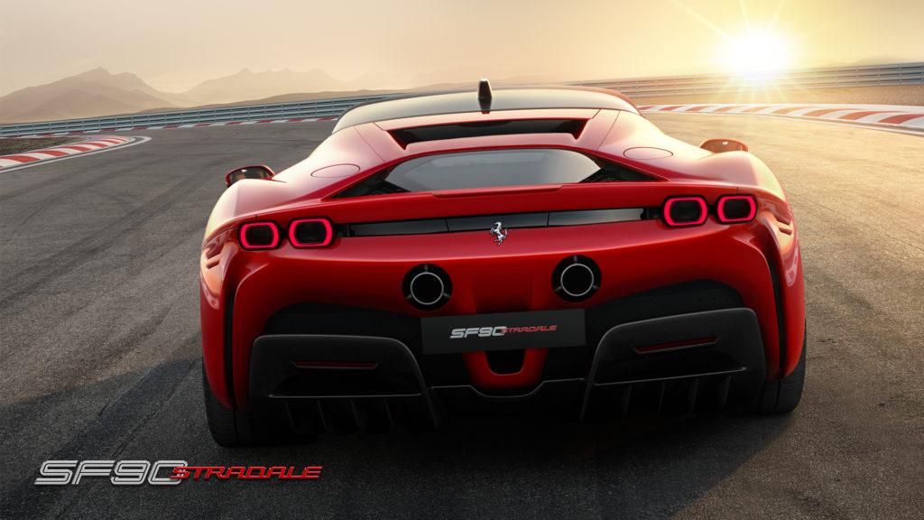 Ferrari SF 90 dietro