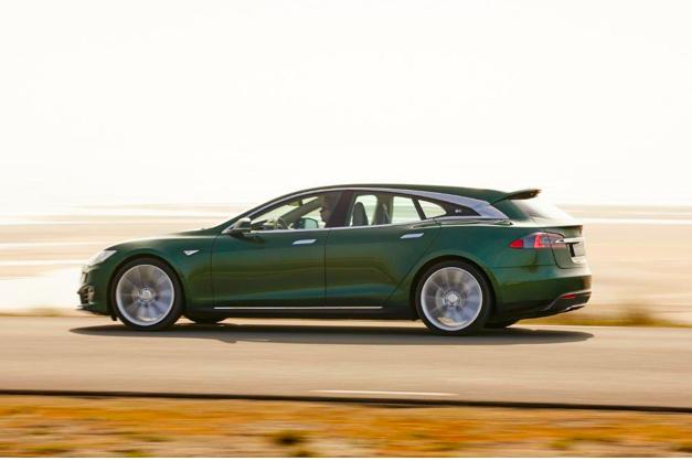 il carro funebre Tesla