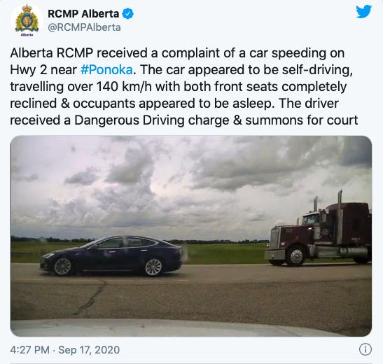 Ai 140 dormiva sulla Tesla