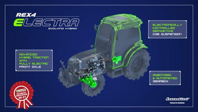 trattore elettrico ibrido