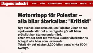 problemi di software anche per Polestar