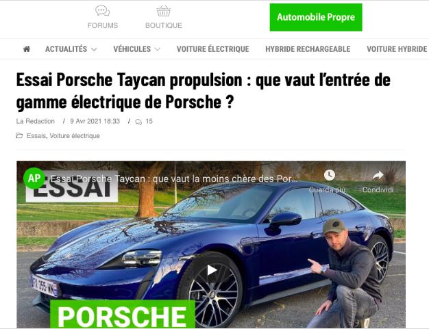 dalla VW alla Taycan