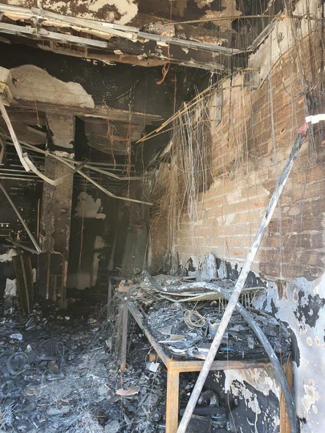 negozio distrutto