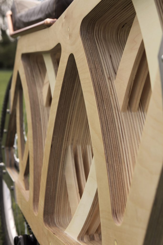 elecrtaply e-bike in legno