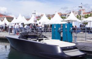 la colonnina per barca elettrica a Cannes
