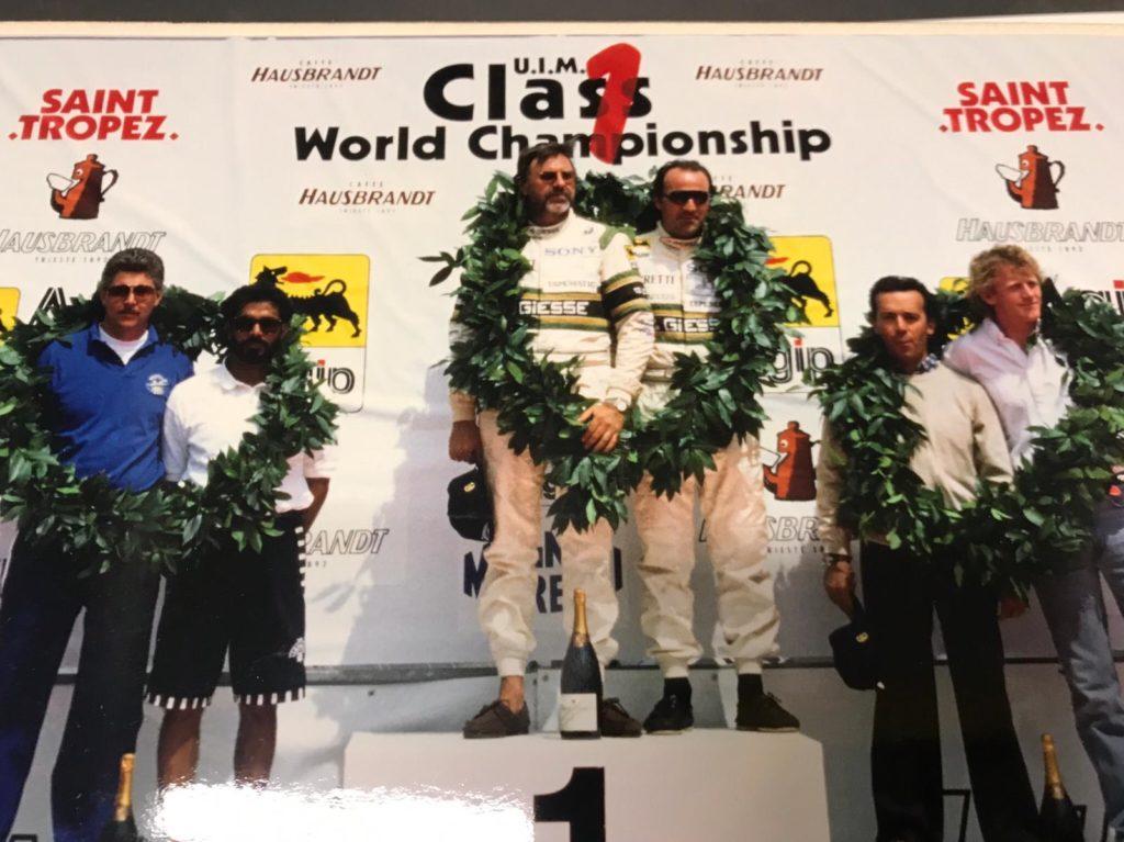 Sul podio del campionato mondiale