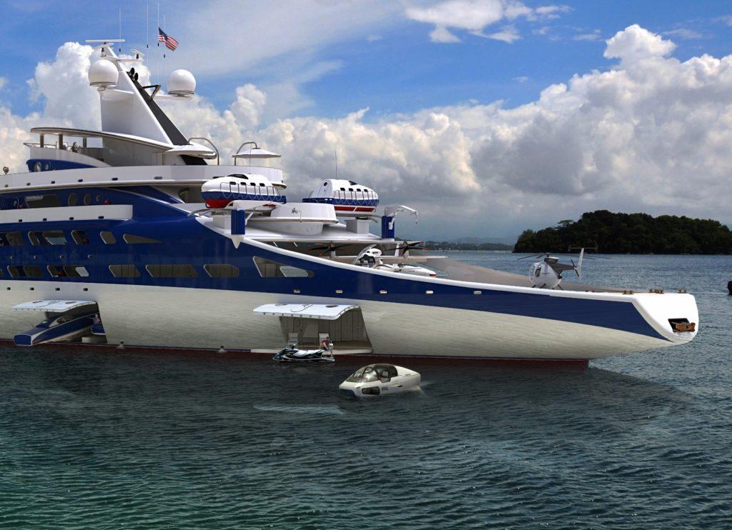 DEEPSEAKER in un super yacht