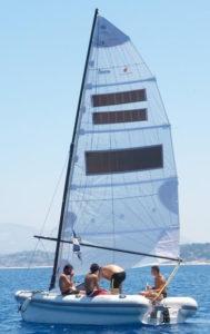 La barca in navigazione