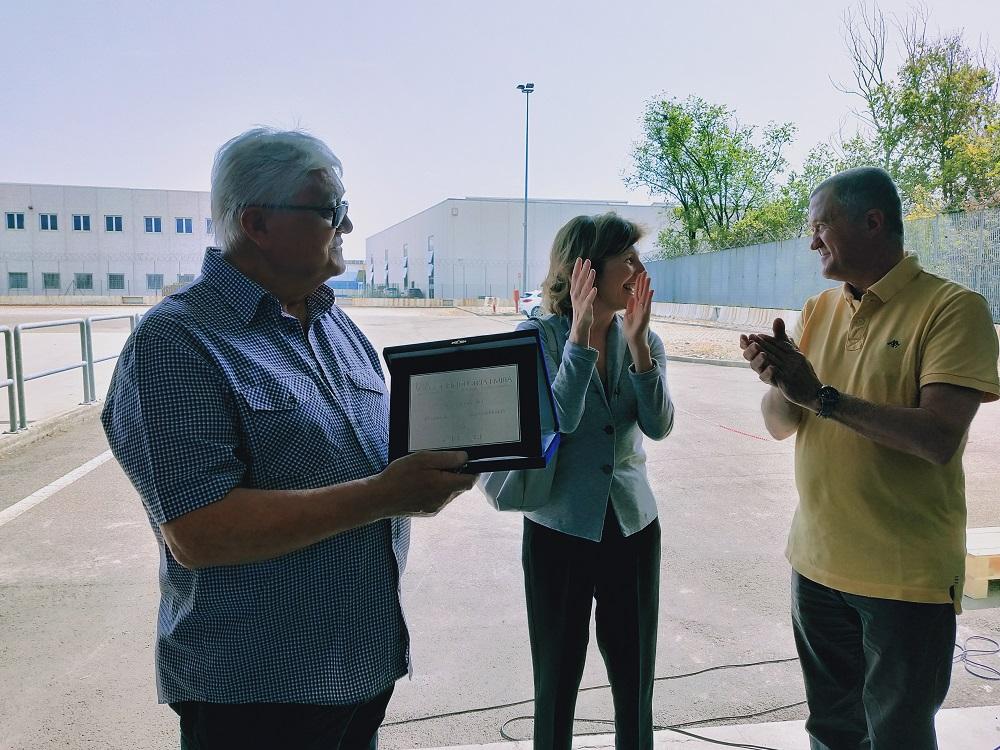 La premiazione dei fondatori di CFR Modena