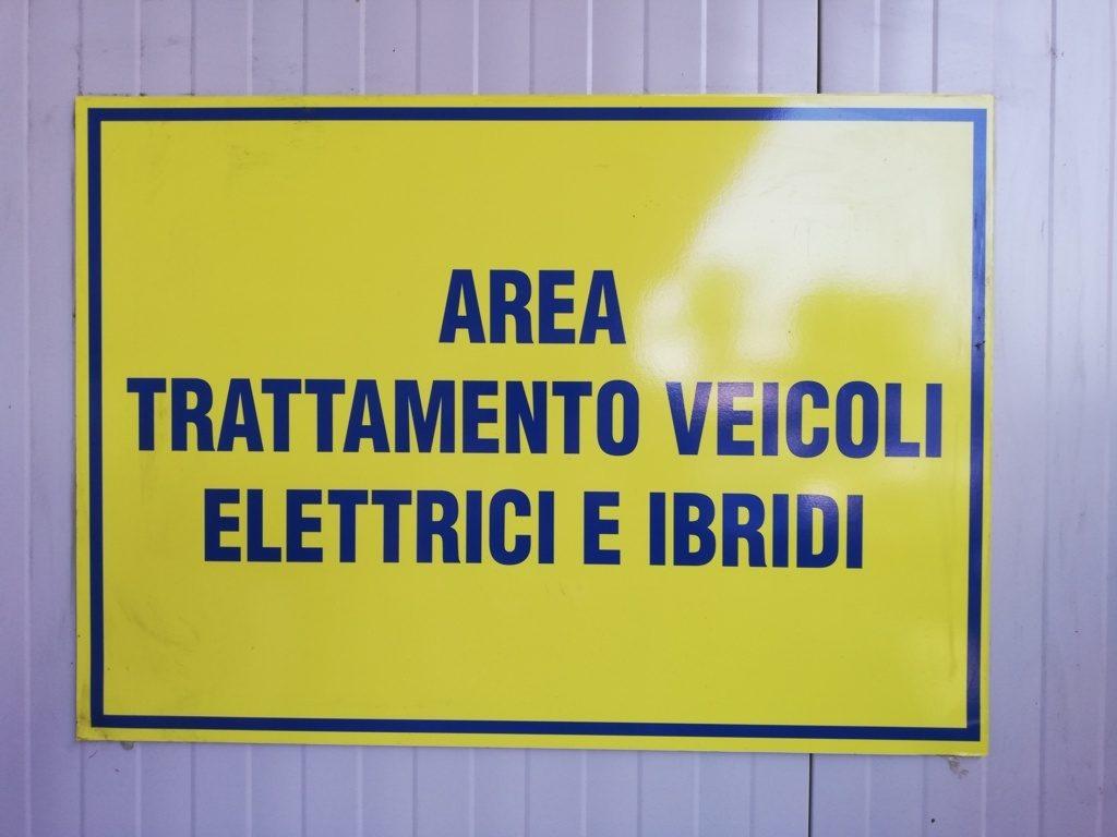 l'area dedicata ai veicoli elettrici