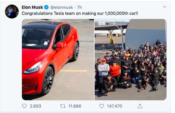 Un milione di Tesla