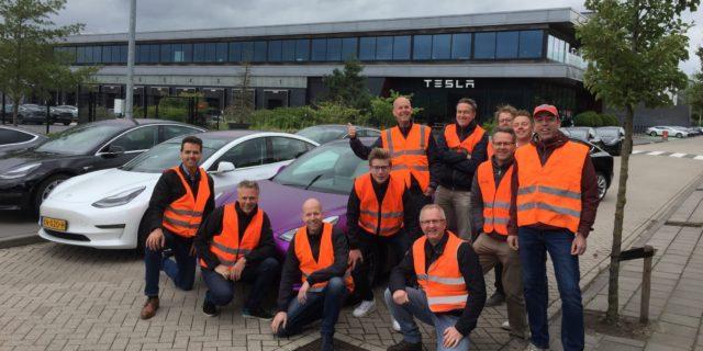 Tesla, protesta a Tilburg