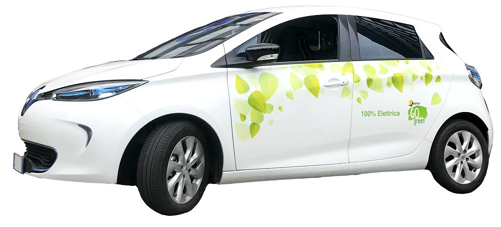 un'auto elettrica aziendale