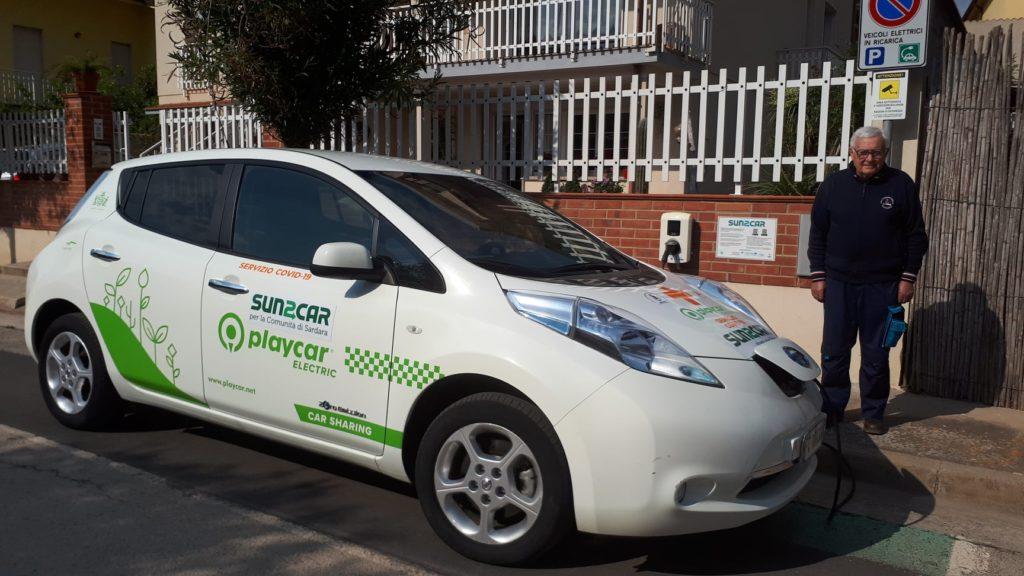 auto elettrica protezione civile