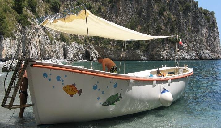 La barca che sarà trasformata in elettrico