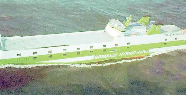 traghetto con batterie
