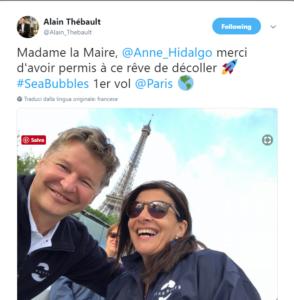 Il sindaco di Parigi a bordo