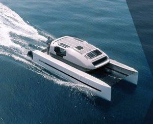 Il catamarano in navigazione