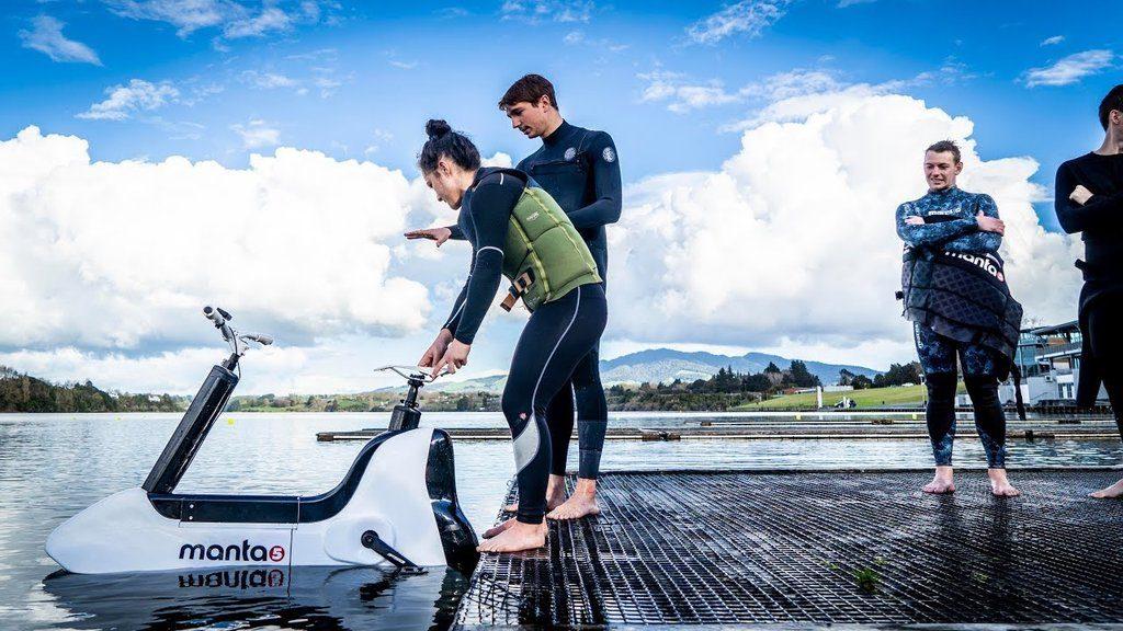 Manta 5 la prova della bici d'acqua