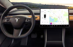 Model 3 screen
