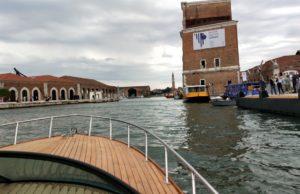 A bordo della barca elettrica di Narduzzi