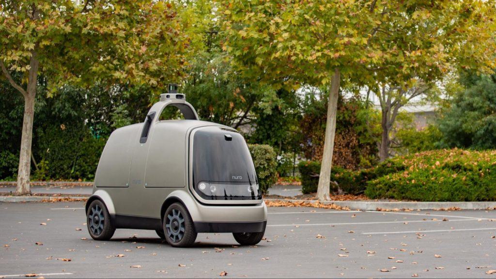 L'auto robot in movimento