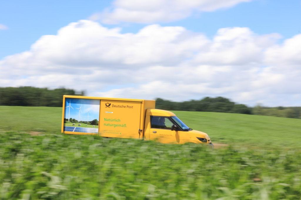 Uno dei furgoni elettrici prodotti
