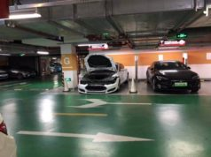 Tesla danneggiata Shangai