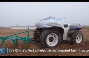 Il governo ha voluto il trattore elettrico e a guida autonoma
