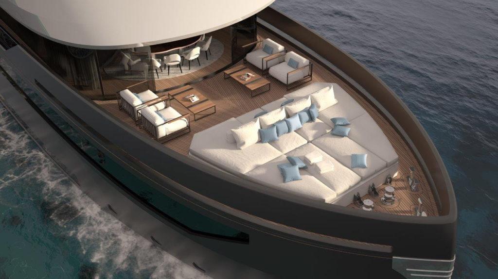 Un dettaglio della barca