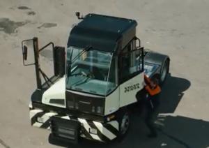 Il trattore in azione